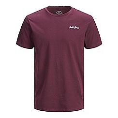 Jack & Jones - Burgundy 'Winks' basic t-shirt