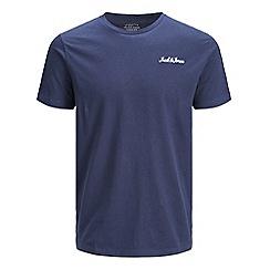 Jack & Jones - Navy 'Winks' basic t-shirt