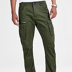 Jack & Jones - Dark green 'Drake' anti fit cargo trousers