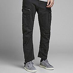 Jack & Jones - Black 'Drake' anti fit cargo trousers
