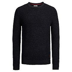 Jack & Jones - Navy 'Dale' crew neck knit jumper