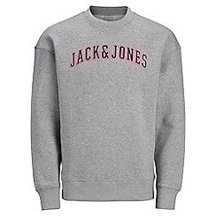 Jack & Jones - Grey 'Harvey' crew neck sweatshirt