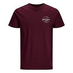 Jack & Jones - Burgundy 'Rafsmen' t-shirt