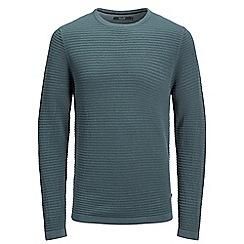 Jack & Jones - Grey 'Eight' crew neck knit jumper