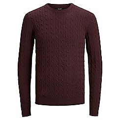 Jack & Jones - Burgundy 'Fred' knitted jumper