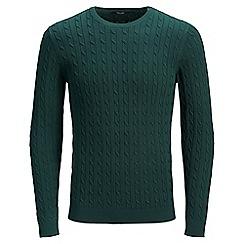 Jack & Jones - Dark green 'Fred' knitted jumper