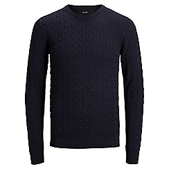 Jack & Jones - Navy 'Fred' knitted jumper