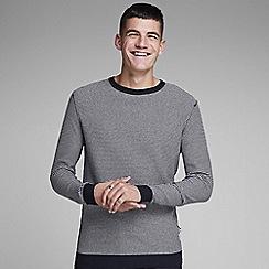 Jack & Jones - Off White Striped 'Bash' knitted jumper