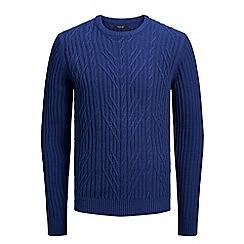 Jack & Jones - Blue 'Bond' knit jumper