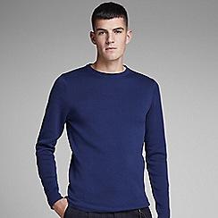 Jack & Jones - Blue 'Dean' knitted jumper