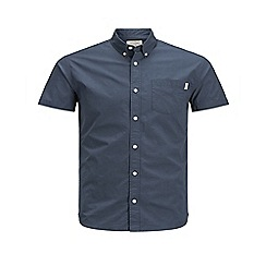 Jack & Jones - Navy 'Jones' short sleeved shirt