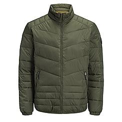Jack & Jones - Khaki 'Stone' stand collar jacket