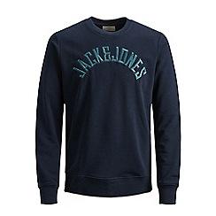 Jack & Jones - Navy 'Melvin' sweatshirt