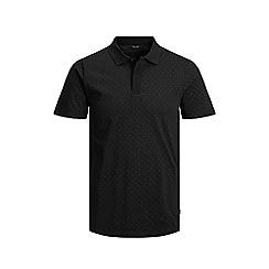 Jack & Jones - 'Black 'Lemar' Polka Dot Polo Shirt