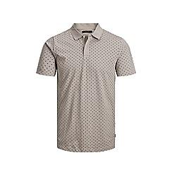 Jack & Jones - 'Beige 'Lemar' Polka Dot Polo Shirt