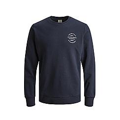 Jack & Jones - 'Navy 'Neo' Crew Neck Sweatshirt