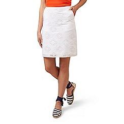 Hobbs - White 'Michaela' skirt