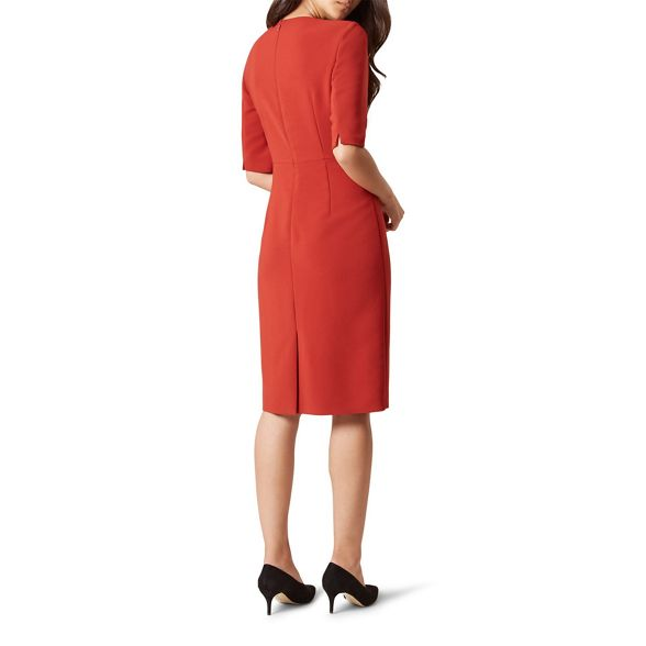 knee Orange dress pencil Hobbs 'Karissa' length xE4pwSgBTq