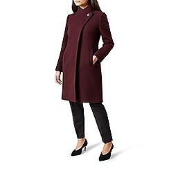 Hobbs - Maroon 'Soraya' coat