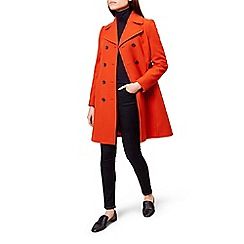 Hobbs - Orange 'Ginnie' coat