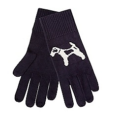 Hobbs - Navy 'Bailey Dog' gloves