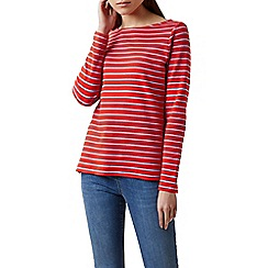 Hobbs - Red 'Constance' breton top