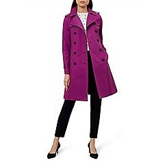 Hobbs - Dark pink 'Saskia' trench coat