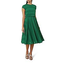 Hobbs - Green 'Kiona' knee length skater dress