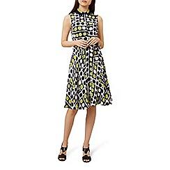 Hobbs - Multicoloured spotted 'Belinda' knee length shirt dress