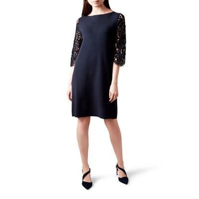 9ebadb9523c Hobbs Blue lace  emily  knee length jumper dress
