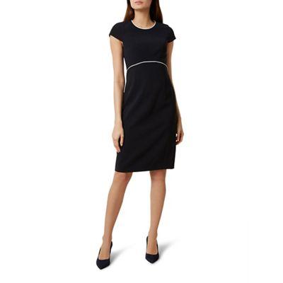 Hobbs   Navy 'christine' Knee Length Pencil Dress by Hobbs