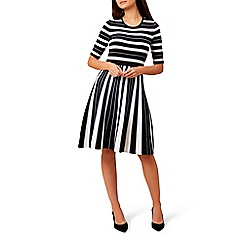 Hobbs - Multicoloured striped 'Clara' knee length skater dress