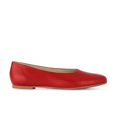 Hobbs - Red 'Suki' flat shoes