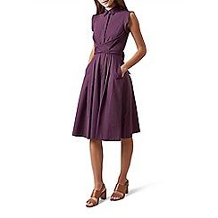 Hobbs - Purple 'Gables' knee length shirt dress