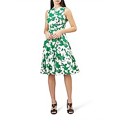 Hobbs - Green 'Evie' knee length dress