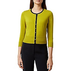 Hobbs - Chartreuse 'Evie' cardigan