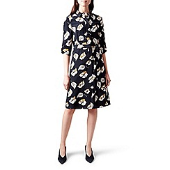 Hobbs - Multicoloured floral print 'Beatrice' knee length shirt dress
