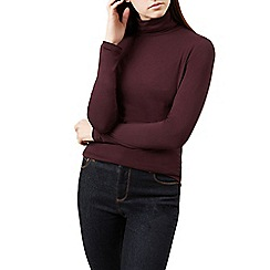 Hobbs - Wine 'Mischa' roll neck top