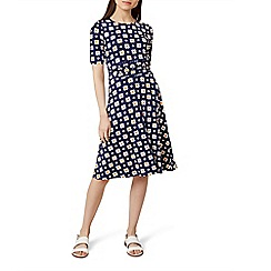 Hobbs - Multicoloured floral print jersey 'Bayview' knee length tea dress