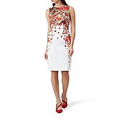 Hobbs - Red floral print 'Fiona' pencil dress