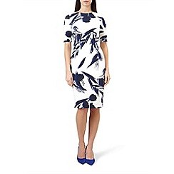 Hobbs - Ivory floral print 'Astraea' knee length shift dress