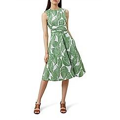 Hobbs - Green pure linen 'Twitchill' knee dress