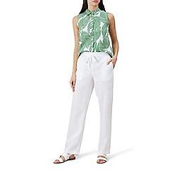 Hobbs - White 'Porthmeor' trousers