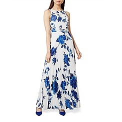 Hobbs - Blue floral print 'Talia' full length evening dress