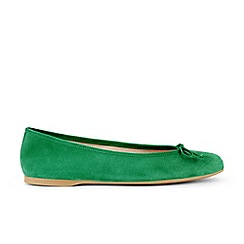 Hobbs - Bright green 'Prior' ballerina shoes