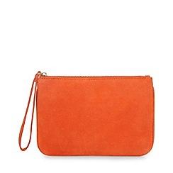 Hobbs - Orange 'Chelsea' wristlet clutch