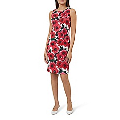 Hobbs - Pink floral print 'Moira' knee length shift dress