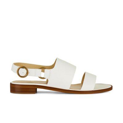 Hobbs - White 'paige' flat sandals