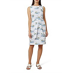 Hobbs - White pure linen 'Amalfi' knee length shift dress