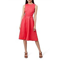 Hobbs - Pink 'Twitchill' knee length wrap dress